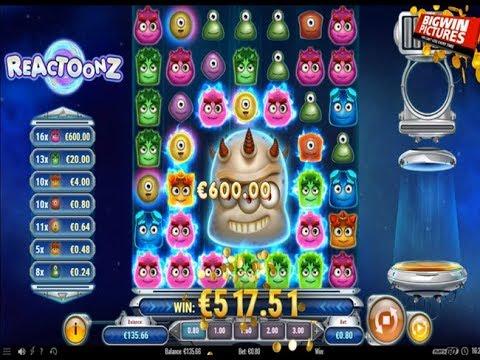 Reactoonz Slot – BIG WIN Compilation (3 Videos)