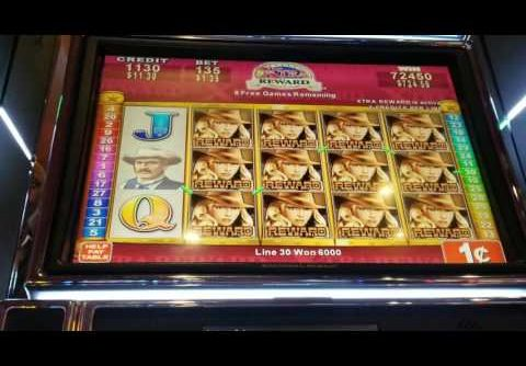 Rawhide Slot Machine Bonus – BIG WIN
