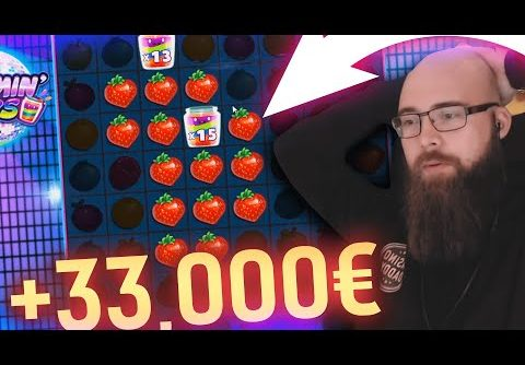 Streamer Huge win x1000 on Jammin Jars slot – Top 5 Biggest Wins of week