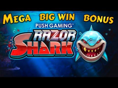 Razor Shark mega win bonus 826X. Push gaming online slot