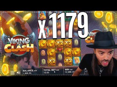 ROSHTEIN Win x1179 on Viking clash slot – Mega Win in casino online