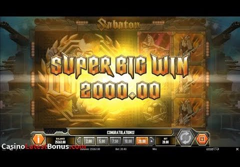 Sabaton from Play`n GO (FREESPINS, BONUS, BIGWIN, SUPERBIGWIN, MEGAWIN)