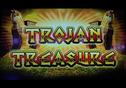 SUPER BIG WIN!  TROJAN TREASURE SLOT MACHINE BONUS  PALA CASINO THE ORLEANS