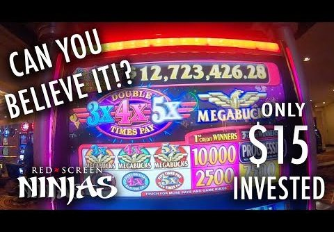 MEGABUCKS HUGE PROGRESSIVE WIN!!!! SLOT MACHINE – LAS VEGAS