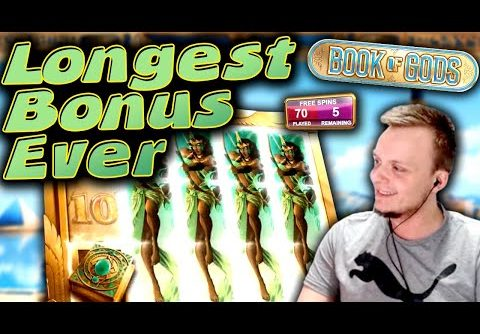 SUPER BIG WIN Book of Gods – The LONGEST Bonus?!