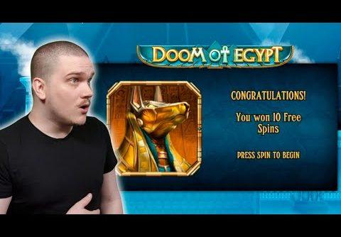 SUPER MEGA BIG WIN ON DOOM OF EGYPT (Play'n GO)