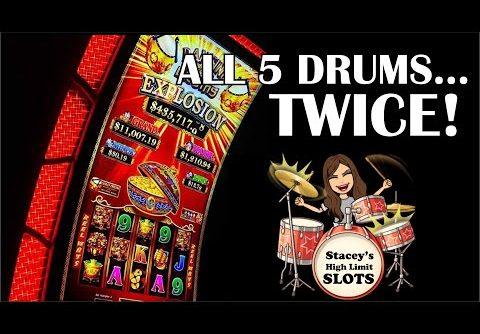 $10 Bets, DANCING DRUMS EXPLOSION SLOT * BIG WIN * $10 MAX BET BONUS!