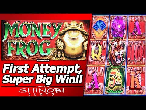 Money Frog Slot – First Attempt, Super Big Win in New Everi title