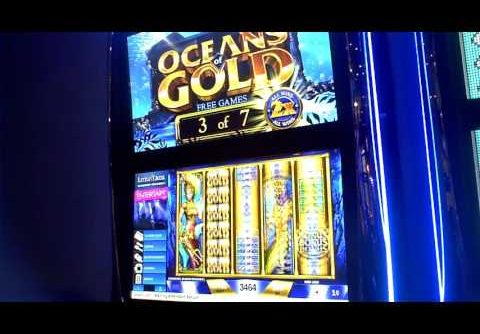 Oceans Of Gold Slot Machine Bonus(2) and HUGE WIN Bonus 3