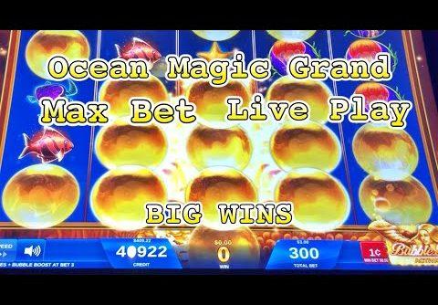 OCEAN MAGIC GRAND SLOT: Live Play, Big Wins (Max Bet)