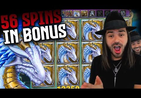 ROSHTEIN Record Win on Rise of Merlin slot (6 RETRIGGERS) – TOP 5 Mega wins of the week