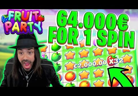ROSHTEIN ONE SPIN – 64.000€ BIG WIN IN FRUIT PARTY! Top 5 Biggest Wins of Week