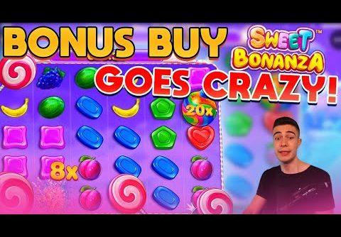 SWEET BONANZA BONUS BUY GOES CRAZY! | ONLINE CASINO SLOT BIG WIN
