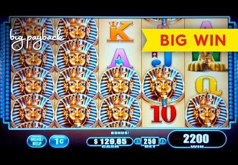 Great Tutankhamen's Mysteries Slot – BIG WIN RETRIGGER BONUS!