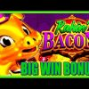 Rakin' Money! New Slot Rakin' Bacon BIG WIN Slot Bonus! | Slot Traveler