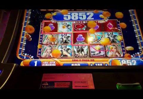 Alexander the Great WMS Slot machine bonus Super Big Win!!!!!