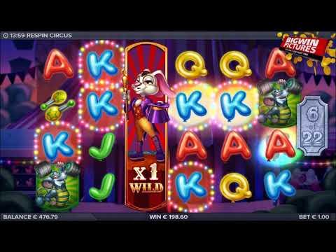 Respin Circus Slot – Free Spins MEGA BIG WINS!