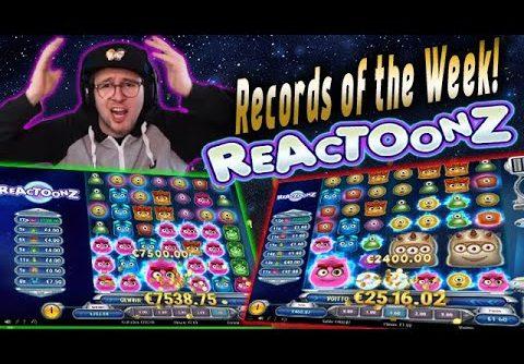 Streamers HUGE WIN! Reactoonz slot! BIGGEST WINS OF THE WEEK! Casino!
