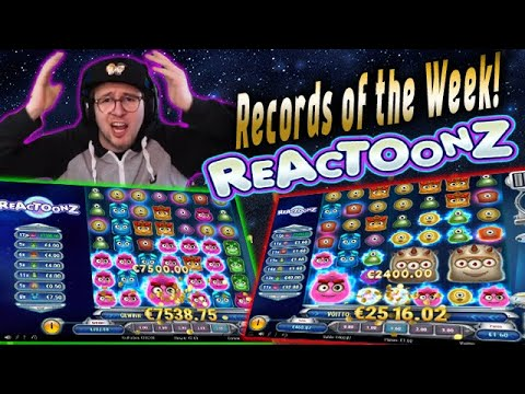 Streamers HUGE WIN! Reactoonz slot! BIGGEST WINS OF THE WEEK! Casino!