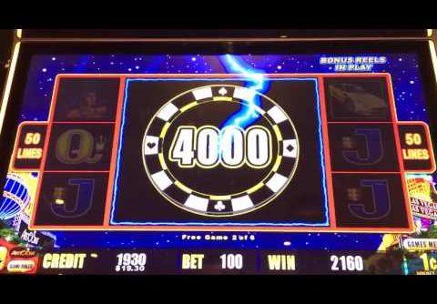 Lightning link slot machine bonus big win!