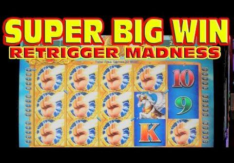 Celestial Temple SUPER BIG WIN + RETRIGGER MADNESS Slot Machine HUGE 300+ SPIN BONUS