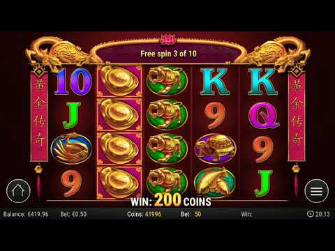 MEGA WIN GOLDEN LEGEND SLOTS  BONUS – 300X THE BET!