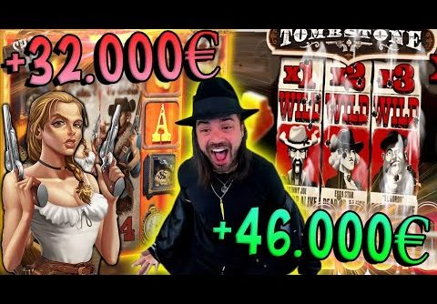 Roshtein Top 5 Crazy Wins in Slots – X3180 BIG WIN in Deadwood and X925 in Tombstone