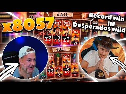 Streamer mega win x8057  in Desperados Wild – Top 5 Big wins in casino slot