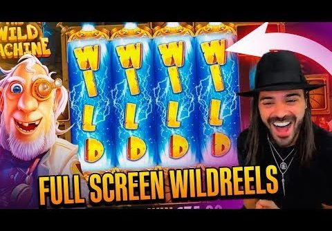 ROSHTEIN Full Screen Win  on The Wild Machine slot   TOP 5 Mega wins of the week