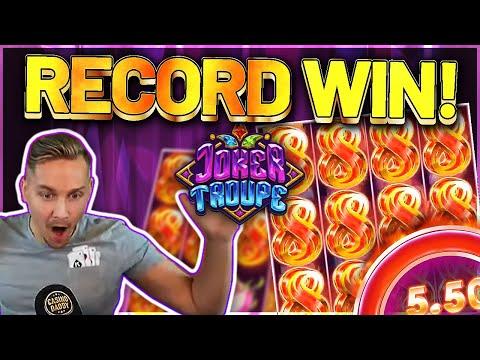 RECORD WIN! Joker Troupe Big win – HUGE WIN on Casino slot Casinodaddy LIVE STREAM