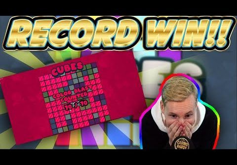 RECORD WIN! Cubes Big win – HUGE WIN on NEW slot from Hacksaw gaming