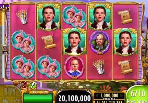 """WIZARD OF OZ: MUNCHKINLAND Video Slot Game with a """"MEGA WIN"""" FREE SPIN BONUS"""