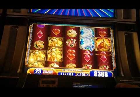 Mystical Unicorn Slot Machine BIG WIN RE-TRIGGER BONUS