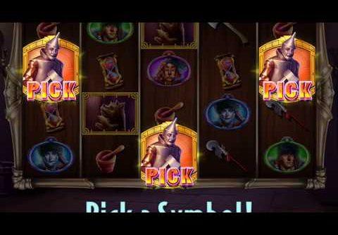 "WIZARD OF OZ: DOROTHY'S RESCUE Video Slot Game with a ""MEGA WIN"" PICK BONUS"