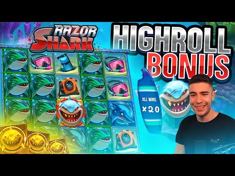 RAZOR SHARK HIGHROLL BONUS | HUGE WIN ON PUSH GAMING ONLINE SLOT MACHINE