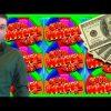 BIG WIN!!! LIVE PLAY on Super Blast Wheel Slot Machine with Bonuses