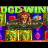 HUGE MEGA WIN!!! 5 BONUSES!!! KING OF AFRICA SLOT MACHINE!!!