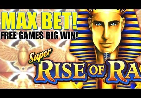 BIG WIN!!! Super Rise of Ra Slot Machine 💥 MAX BET Slot BONUS!