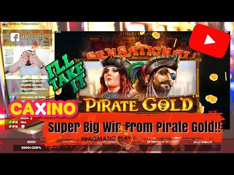 Money Bag Bonus!! Super Big Win  From Pirate Gold Slot!!