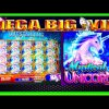 FULL SCREEN!!! HUGE MEGA WINS! Mystical Unicorn WMS Slot Machine!