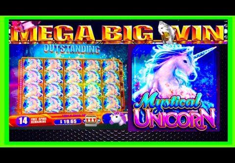 FULL SCREEN!!! HUGE MEGA WINS! Mystical Unicorn WMS Slot Machine!