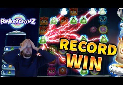 RECORD WIN!!! Reactoonz Huge Win – BIG WIN on Online Slots from MrGambleSlots