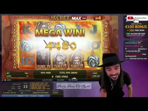 Roshtein's Big Win F t Secret of the Stones Max, Gargatoonz, Sabaton, The Dog House & Dragonfall