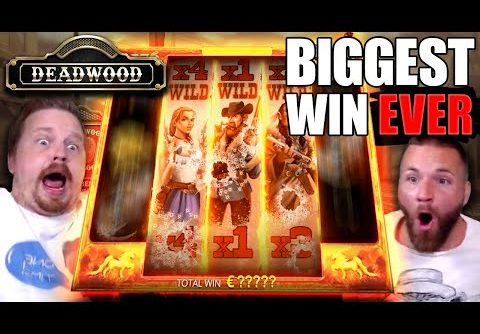 SUPER MEGA WIN – Deadwood (My BIGGEST Slot Win EVER)