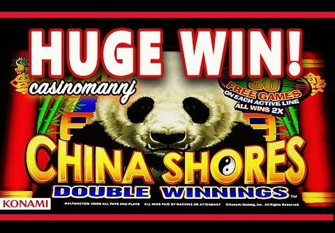 **HUGE WIN** – CHINA SHORES SLOT – FULL SCREEN! – SUPER AWESOME WINS! – Slot Machine Bonus