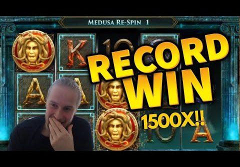 1500X Record Win!!! Shield of Athena Mega Win – Casino Games from MrGambleSlot Live Stream
