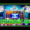 OUTSTANDING MEGA WIN!!! LIVE WMS ACTION! MYSTICAL UNICORN SLOT MACHINE!!!