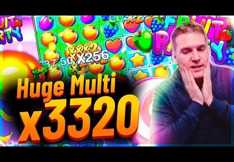 Streamer Mega win x3300 on Fruit Party slot – TOP 5 Mega wins of the week