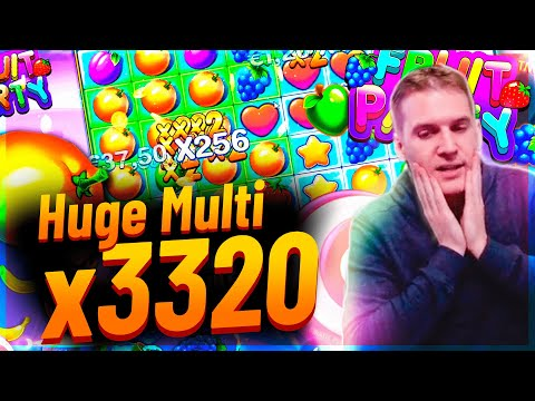 Streamer Mega win x3300 on Fruit Party slot – TOP 5 Mega wins of the week