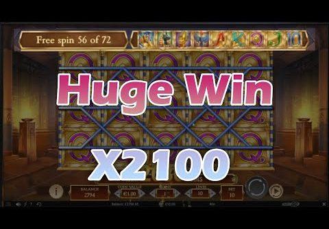 Legacy of Dead slot mega big win! All symbols!